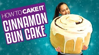 Download How To Make a GIANT CINNAMON BUN CAKE | With Cream Cheese Frosting | Yolanda Gampp | How To Cake It Video