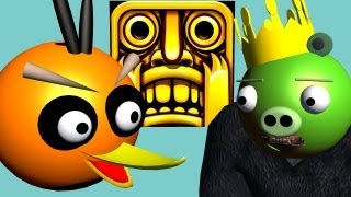 Download TEMPLE RUN starring ANGRY BIRDS ♫ 3D animated game mashup ☺ FunVideoTV - Style ;-)) Video