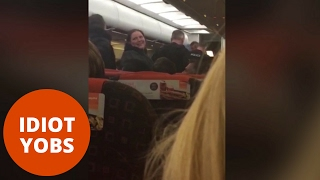 Download Passengers cheer as rowdy yobs escorted off Easyjet flight Video