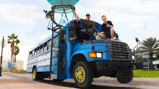 Download Surprising TFue With A Fortnite Battle Bus In Real Life Video