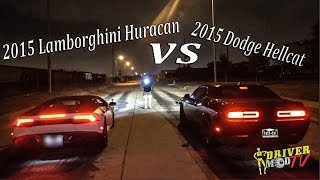 Download 2015 Lamborghini Huracan Vs 2015 Dodge Hellcat ( F Video