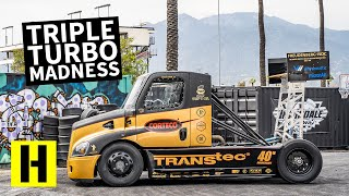Download 2,400 Horsepower Triple Turbo Semi Truck Obliterates its Tires: Mike Ryan's Hillclimb Beast Video