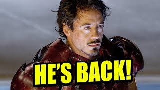 Download ROBERT DOWNEY JR. OFFICIALLY RETURNING AS IRON MAN Video