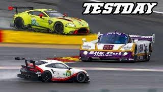 Download Vantage GTE, 991.2 RSR, XJR-9, 488 GTE, LMP3, Huracan, ...Spa testdays 2018 Video