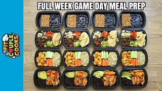 Download GAME DAY - FULL WEEK MEAL PREP - How to Meal Prep - Ep. 74 Video