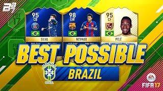 Download BEST POSSIBLE BRAZIL TEAM! w/ PELE AND TOTS NEYMAR!   FIFA 17 Video
