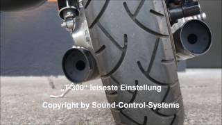 Download Suzuki Intruder VS 1400 Serienauspuff mit verstellbarem ″T-300″ von Sound-Control-Systems Video