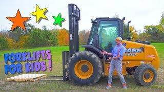 Download Learn about Forklifts with Blippi | Construction Trucks for Children Video