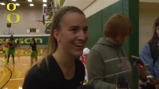 Download Sabrina Ionescu Post Practice 10-8 Video