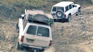 Download Toyota Land Cruiser 80 vs Nissan Patrol GQ offroading 4wd 4x4 Video