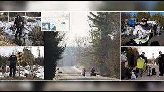 Download Frightened immigrants are creeping into Canada through a quiet border town. Video