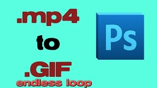 Download Convert mp4 video to infinite loop GIF image with photoshop Video