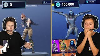 Download DELETING ALL OF MY LITTLE BROTHERS VBUCKS THEN BUYING HIM 100,000 VBUCKS IN FORTNITE... Video
