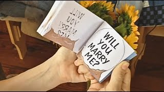 Download Jeff Proposing with a Flipbook Animation!!! Video