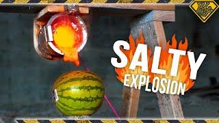 Download When Molten Salt hits a Watermelon Video