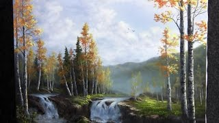 Download Paint with Kevin Hill - Birch Waterfalls Video