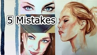 Download Watercolor Tips to Improve Paintings - 5 Beginner Mistakes Video