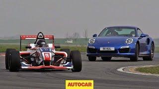Download Can Porsche's 911 Turbo S outrun a Formula 4 car? Video
