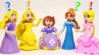 Download Disney Princess Wrong Dress Play doh STOP MOTION videos Learn Colors Finger Family Video