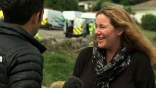 Download Helicopter helps evacuate Cornwall people hit by flash floods Video
