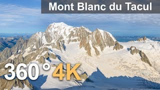 Download Three peaks of Mont Blanc, 360° video over Mont Blanc du Tacul Video
