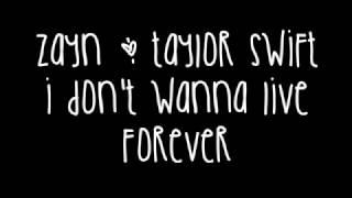 Download Zayn Malik & Taylor Swift - I Don't Wanna Live Forever Lyrics (Fifty Shades Darker) Video