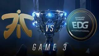 Download FNC vs EDG | Quarterfinal Game 3 | World Championship | Fnatic vs Edward Gaming (2018) Video