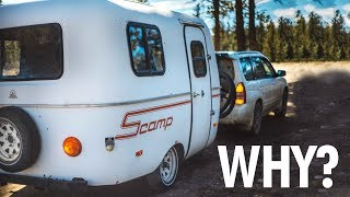 Download WHY We Chose to LIVE in a 13ft Scamp Trailer Video