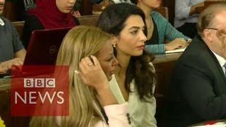 Download Al-Jazeera trial: Amal Clooney urges pardon for journalists - BBC News Video