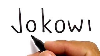 Download WOW, menggambar kata jokowi jadi wajah JOKOWI, / how to turn words JOKOWI into CARTOON Video
