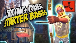 Download TAKING OVER STARTER BASES! - Rust SOLO Survival Gameplay Video