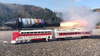 Download Rocket powered RC Train !! Speed Launch Toy Railway Video