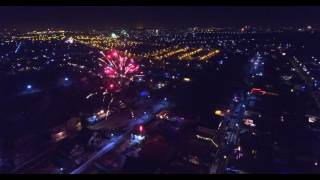 Download Revelion 2017 - Bucuresti - Focuri de artificii - 2017 Drona - Fireworks drone view - 4K Video