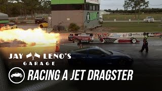 Download Jay Leno Races Jet Dragster In C6 Corvette - Jay Leno's Garage Video