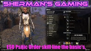 Download ESO Psijic Order skill line the basic's. Video