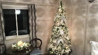 Download Wave Ribbon Christmas Tree Decorating Tutorial - How To Ribbon Technique - Holiday decorating Video