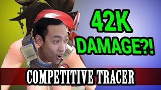 Download Overwatch: Tracer Competitive & Commentary! INTENSE 42K Damage Competitive Stream Segment Video