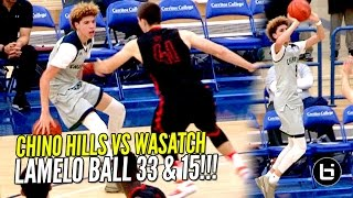 Download LaMelo Ball GOES FULL STEPH CURRY MODE!! Chino Hills SPANK Top Utah Team w/ Lonzo Ball Watching!! Video