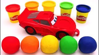 Download Learn Colors with Play Doh Disney Pixar Lightning McQueen for Kids Video