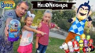Download Hello Neighbor in Real Life! Mighty Beanz Toy Scavenger Hunt Outside!! Video