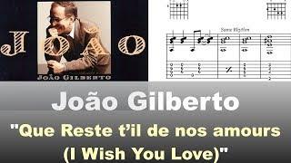 Download João Gilberto - ″Que reste t'il de nos amours?″ - Virtual Guitar Transcription by Gilles Rea Video
