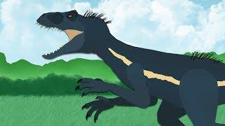 Download DinoMania - Indoraptor vs Indominus   Godzilla Megalodon Spinosaurus and T-Rex   Dinosaurs battles Video