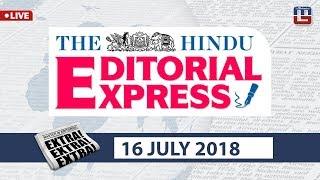 Download The Hindu Editorial Express at 9 am | 16 July | UPSC, RRB, SBI, IBPS, SSC Video