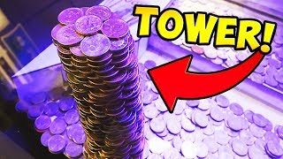 Download Coin Pusher || WINNING HUGE TOWER OF GOLD COINS! Video