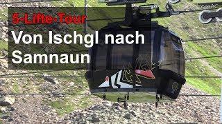Download Mit der Seilbahn von Ischgl (A) nach Samnaun (CH) in 4K Video