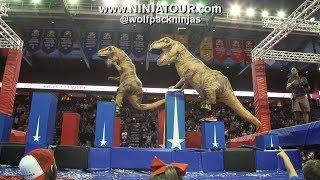 Download when watching a T-Rex vs. T-Rex Ninja Race at the Wolfpack Ninja Tour 2.0 Video
