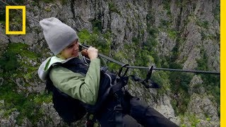 Download Cara Delevingne Pulls Herself Across a Canyon | Running Wild With Bear Grylls Video
