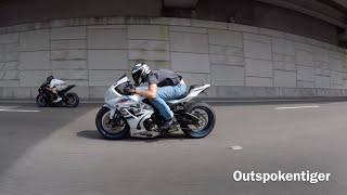 Download Suzuki Hayabusa vs GSXR 1000 vs BMW S1000RR vs Yamaha R1M - Street Race Video