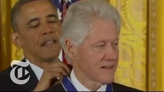Download Obama Awards Presidential Medal of Freedom to Bill Clinton, 15 Others | The New York Times Video