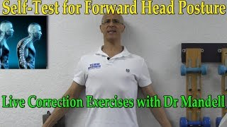 Download Self-Test for Forward Head Posture - Live Correction Lesson With Dr Mandell Video